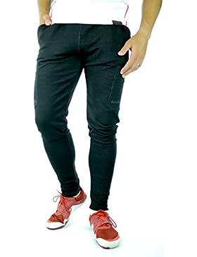 Pantalones Rendimiento Sundried para hombre Joggers Negro cónicos jogging Bottoms