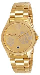 Naf Naf - N10154G-102 - Gaya - Montre Femme - Quartz Analogique - Cadran Doré - Bracelet Acier Doré