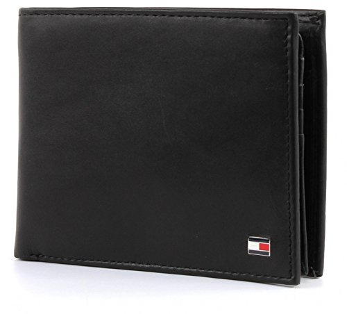 TOMMY HILFIGER Eton CC Flap and Coin Pocket Black -
