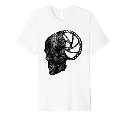 Gravity MTB Bremse Rotoren mit Totenkopf schwarz T-Shirt