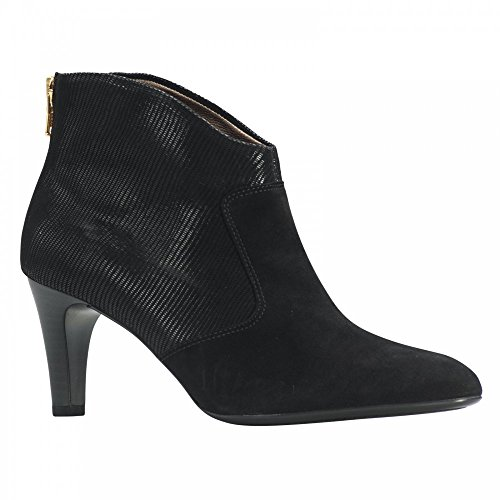 Peter Kaiser Back Zip Ankle Boot Black Suede
