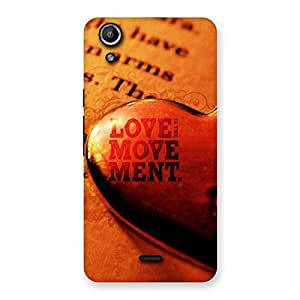 Love is Movement Back Case Cover for Micromax Canvas Selfie Lens Q345