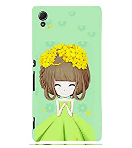 Girl with Flower in Hair 3D Hard Polycarbonate Designer Back Case Cover for Sony Xperia Z4