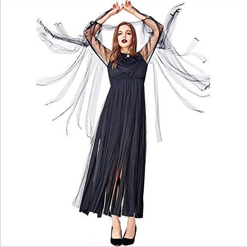 Erwachsenen Hexe Kostüm Für Elegante - CYYMY Damen Das Böse Hexe Kostüm Erwachsene Halloween Nacht Lange Quaste Cosplay Kostüm Führen Party Kostüme Dekoration