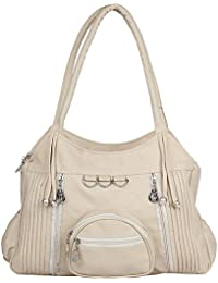 Paras Fashions Stylish Synthetic Leather Handbag For Womens - Beige Color (3 Chhalla)