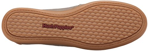 Hush Puppies Women's Ryann Claudine Chocolate Leather Loafer 5.5 M (B) Taupe