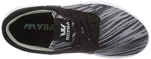Supra Hammer Run, Sneakers Basses Adulte Mixte Noir (black / Brushstroke - White     Bpa)