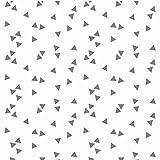 Baumwollstoff Dreiecke Weiß Grau Webware Meterware