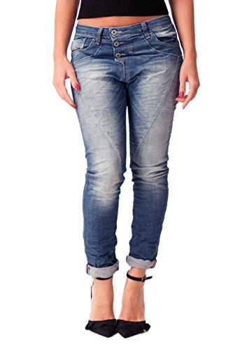 50dcc3f4 PLEASE - P78a jeans donna baggy boyfriend blu denim m denim