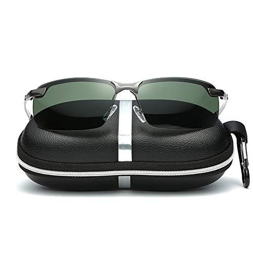 Set Unisex Angeln Laufen Golf Fahren Unisex Polarized Lens Wellington Sonnenbrille Accessoires (Color : Grey+Green, Size : Kostenlos)