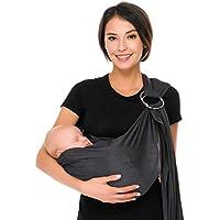 Cuby - Pañuelo portabebés ajustable para bebé, con malla para el cuidado de los niños, correa de anillo de agua con doble anillo de acero inoxidable, talla única