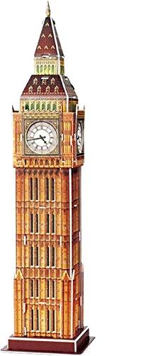Puzzle 3D Big Ben Man braucht weder Schere noch Kleber um Big Ben zusammenzubauen, denn dieses 3D-Puzzle wird einfach zusammengesteckt. Das trainiert die Hand-Augen-Koordination und lehrt gleichzeitig ein bisschen Weltgeschichte: Big Ben ist der Spitzname für die Glocke im Uhrenturm des Westminster Palace. Er zählt zu den berühmten Wahrzeichen der Metropole London. Teile: 30.