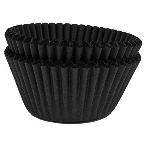 Papier de haute qualité à muffins, cupcakes – Noir uni – Lot de 50
