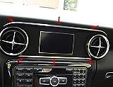 2 pièces Jeu de moulures - Jeu de moulures sur et sous l'écran Mercedes SLK 172 en aluminium R172 FL 280 200 350 AMG55 AMG45