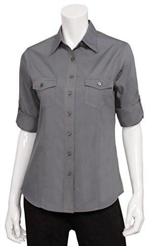 Uniform Works-Maglietta da donna da pilota di Top-Camicia Casual Outfit, plastica, grigio, xl - Spandex Uniform
