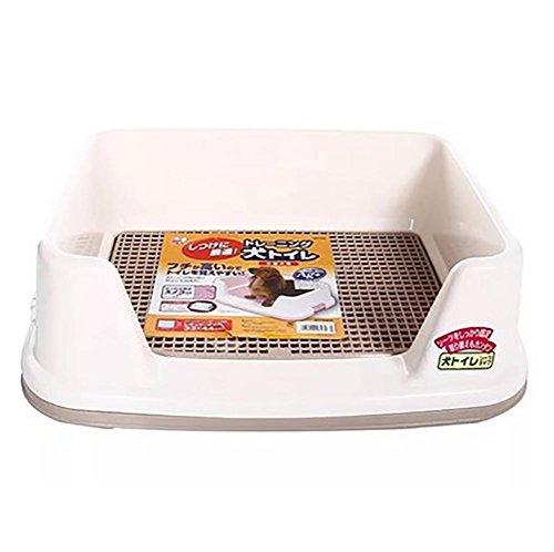 DAN Hundetoilette, Portable Plastic Toilet Indoor Hundetoilette mit Eingezäunt , Weiß