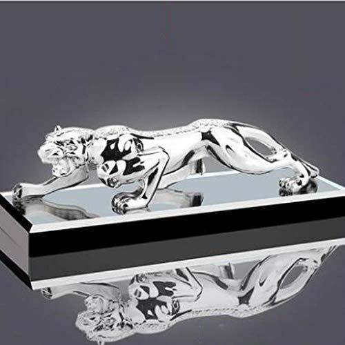 Preisvergleich Produktbild WDDqzf Ornaments Skulptur Figur Dekoration Statuen Kreative Auto Geld Leopard Auto Parfüm Anhaltende Licht Duft Sitz Sitz Liefert Auto Innenraum Schmuck Ornamente,  Gentleman Silber - XL