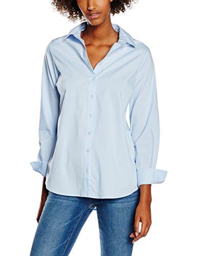 New Look Poplin, Camisa para Mujer, Azul, ES 42 (UK 14)