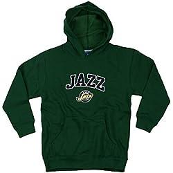 Utah Jazz de la NBA juventud capucha, sudadera con capucha, verde medio (8) -