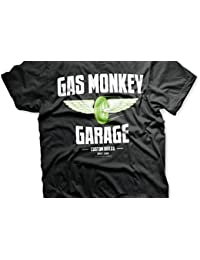 694977d1b0ae9 Officially Licensed Merchandise Gas Monkey Garage - Speed Wheels T-Shirt  (Black)