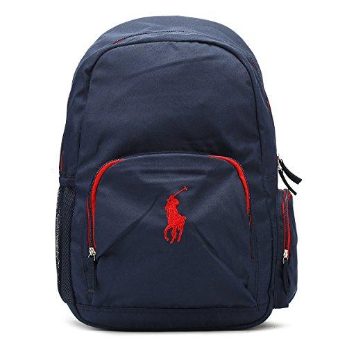 Preisvergleich Produktbild Ralph Lauren Marine / Rot Campus Backpack