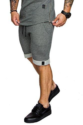 Amaci&Sons Herren Bermuda Shorts Sweatshorts 8001 Anthrazit XXL