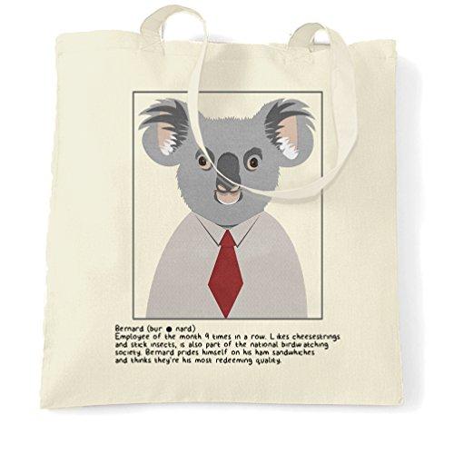 Bernard Koala Wildlife Jungle eucalipto simpatici animali Fluffy Sacchetto Di Tote Natural