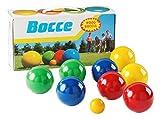 Sport-Thieme Boccia-Spiel mit lackierten Holzkugeln | Boule-Set aus 8 Kugeln, Zielkugel und Tragebox | Gewicht pro Holz-Kugel: 283 g, ø 80 mm | In 4 Farben lackiert