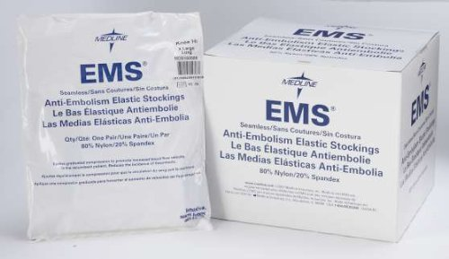 Knee Length Anti-Embolism Stocking, Extra-Large, Long (box of 12 pr) by Medline