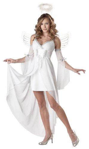 Hübsches Engel-Kostüm für Damen (Angel Für Erwachsene Kostüme Heaven's)