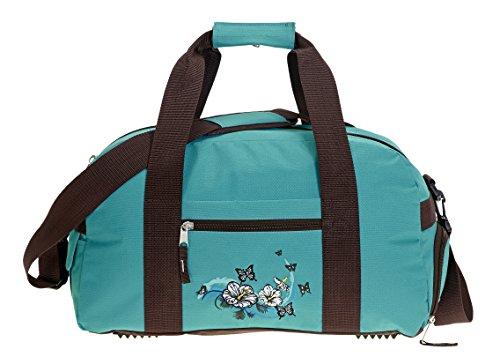 ELEPHANT Sporttasche 41 cm Sport Tasche Schulsporttasche mit SCHUHFACH [ AUSWAHL ] Butterfly Türkis