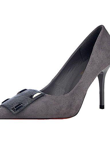GS~LY Damen-High Heels-Kleid-Wildleder-Stöckelabsatz-Absätze / Spitzschuh / Geschlossene Zehe-Schwarz / Rot / Grau / Burgund black-us6 / eu36 / uk4 / cn36