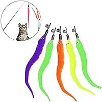 a91a1c60a7 UEETEK 5PCS Reemplazo de gusanos para gato interactivo y gatito Toy Wands