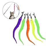 Giocattolo gatto piuma UEETEK Piume per interattivo bastone di giochi con gatti (5PCS)