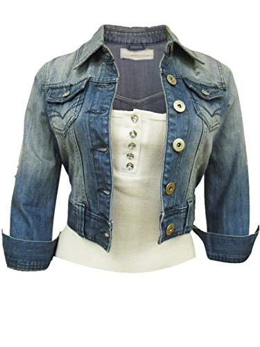 SS7 - Damen Denim Jacke, Blau - Denim Blue, 36 (Jacken Frauen Für Military Style)