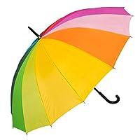 Susino Rainbow Walker Stick Umbrella, 90 cm, Multicoloured