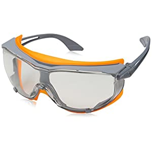 41cckrRLMhL. SS300  - Uvex 9175275 Sicherheitsbrille, Sky Guard, transparent, Grau/Orange