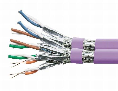 Preisvergleich Produktbild VSE 281042 Verlegekabel, Cat.7 SFTP duplex, 100 m Länge