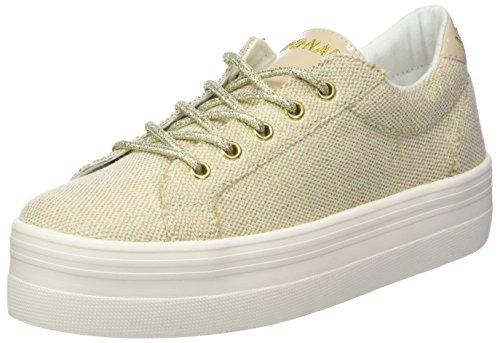 Picadilly Soft Flex/Glass, Baskets Basses Femme, Blanc (White/Gold), 39 EUNo Name