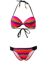 LOLITA ANGELS Maillot 2 pièces triangle multicolore à rayures Ping