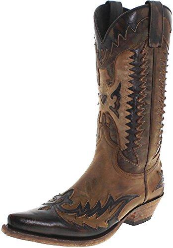 Sendra Boots 13040 Mad Dog Tang Lavado Cowboystiefel für Herren Braun, Groesse:41 -