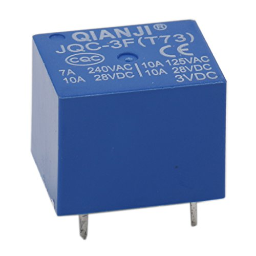 heschen PC BOARD Relais jqc-3F (T73) DC 3V Coil SPST 7A 240VAC 5Pin Terminals 5Pack -