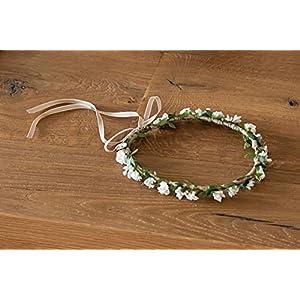 Blumen strinband haarband hochzeit durchmesser 20 cm