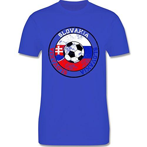 EM 2016 - Frankreich - Slovakia Kreis & Fußball Vintage - Herren Premium T-Shirt Royalblau
