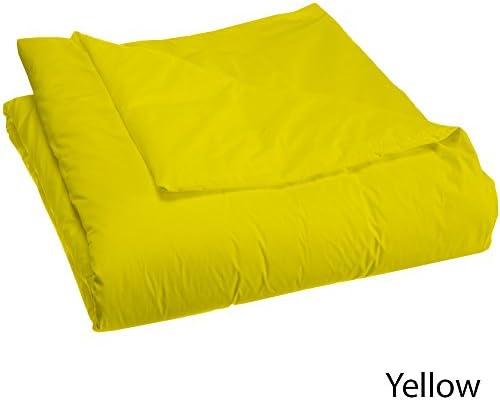 Dreamz Étui Parure de lit lit lit housse de couette 400 fils/cm² 100% Coton Ultra Doux 1/courtepointe (300 g/m² en fibre), double, petit double, en coton égyptien 400 Jaune Massif Doudou 4f6f74