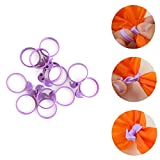BeautyBouse New 12pcs Silicone Sealing Ring Cream Piping Bag Tie Preserving Jars Kitchen Baking Tools