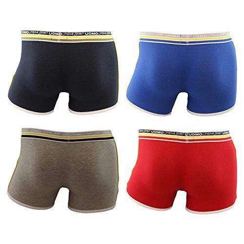 4er Pack sportliche modische Herren Boxershorts in verschiedenen Farben Mehrfarbig