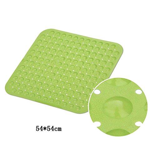 LYJ Tapis de bain Tapis De Bain Antidérapant De 54 * 54 Carrés / Tapis De Bain / Douche De Toilette Tapis De Toilette ( Multicolores Facultatif) Séchage rapide ( Couleur : Vert )