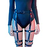 Homelex Sexy Punk Leder Taille Bein Caged Harness Gothic Strumpfband Für Damen, Durchschnittliche Größe, Lp-003