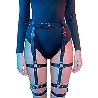 Homelex Sexy Punk Leder Taille Anti-Rutsch-Clips Harness Gothic Strumpfband für Frauen
